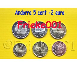 Andorra 5 cents to 2 euro 2014 unc