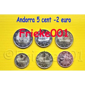 Andorra 5 cents to 2 euro 2014 unc
