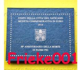 Vaticaan 2 euro 2018 comm in blister.(Padre Pio)