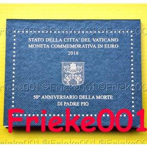 Vatican 2 euro 2018 comm in blister.(Padre Pio)