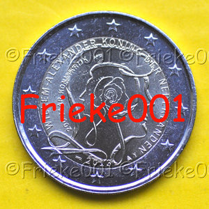 Pays-Bas 2 euro 2013 comm.(200 années-Uni)