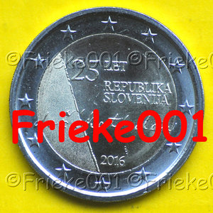 Slovenia 2 euro 2016 comm.(25 years of independence)