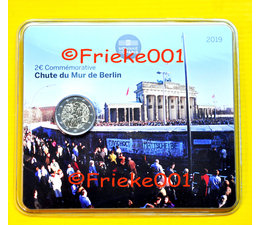 France 2 euro 2019 comm in blister.(30 years Berlin Wall)