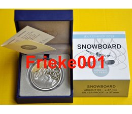 France 10 euro 2013 Proof.(Snowboard)