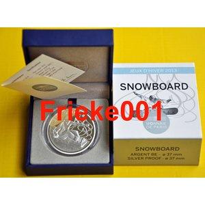 Frankrijk 10 euro 2013 Proof.(Snowboard)