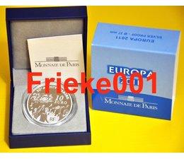 Frankrijk 10 euro 2011 Proof.(Europa)