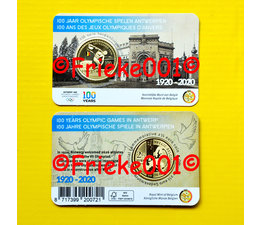 Belgium 2.50 euro 2020  in blister colored.(100 years Olympic Games Antwerp)