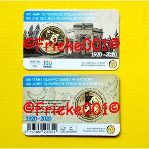 Belgique 2,50 euro 2020 sous blister coloré. (100 ans Jeux Olympiques d'Anvers)