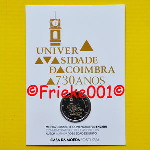 Portugal 2 euro 2020 comm in blister.(University of Coimbra)