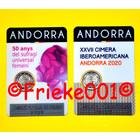 Andorra 2 euro 2020 comm in blister.(Femini and Iberoamericana)