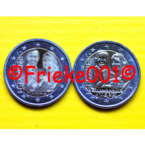 Luxembourg 2x 2 euro 2020 comm unc.(Birth of Prince Charles)(relief and photo)
