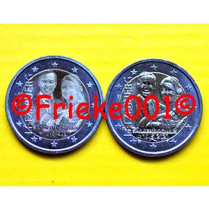 Luxemburg 2x 2 euro 2020 comm unc.(Geboorte prins Karel)(relief en foto)