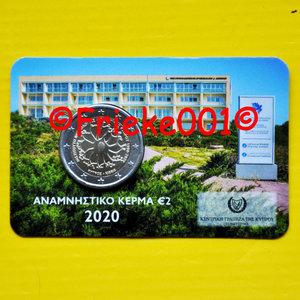 Cyprus 2 euro 2020 comm in blister.(Neurologie)