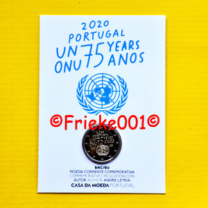 Portugal 2 euro 2020 comm in blister.(United Nations)