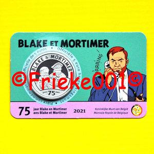 Belgium 5 euro 2021 in blister.(Blake and Mortimer)