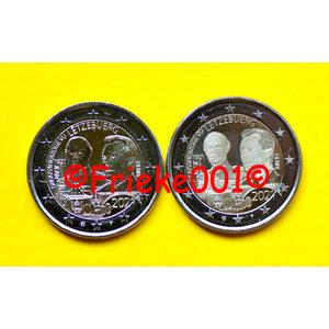 Luxemburg 2x 2 euro 2021 comm.(Hertog)(relief en foto)