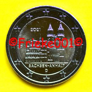 Duitsland 2 euro 2021 comm.(Sachsen-Anhalt)