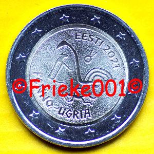 Estonie 2 euro 2021 comm.(Peuples ougriens)