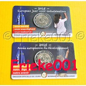 België 2 euro 2015 comm in blister.(Europese ontwikkeling)