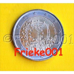 Oostenrijk 2 euro 2015 comm.(30 jaar europese vlag)