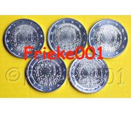 Germany 5x 2 euro 2015 comm 30 years european flag