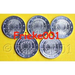 Allemagne 5x 2 euro 2015 comm drapeau européen 30 ans