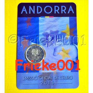 Andorre 2 euro 2015 sous blister.(25 ans)