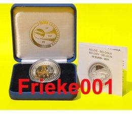 Belgium 10 euro 2011 proof.(Piccard)