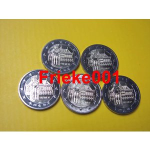 Allemagne 5x 2 euro 2010 comm