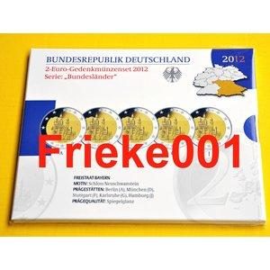 Allemagne 5x 2 euro 2012 comm belle épreuve en blister