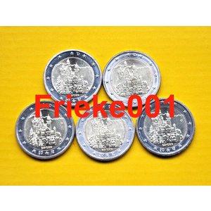 Duitsland 5x 2 euro 2012 comm