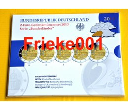 Duitsland 5x 2 euro 2013 comm proof in blister