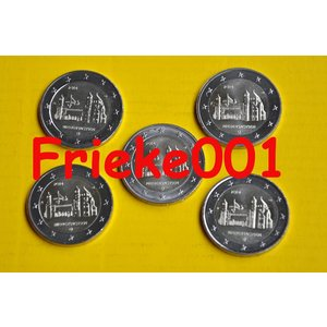 Duitsland 5x 2 euro 2014 comm