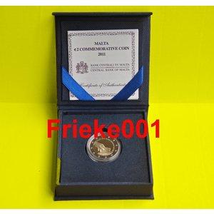 Malta 2 euro 2011 comm proof