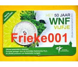Netherlands 5 euro 2011 50 years WWF