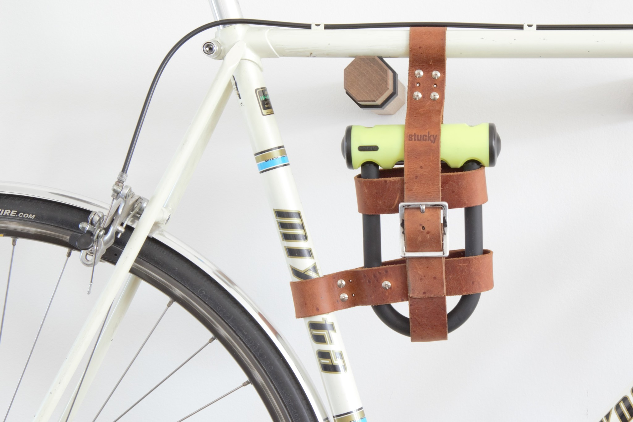 Leder Fahrradschlosshalter