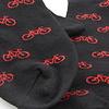 Socken im Bikedesign (schwarz-rot)