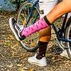 Socken im Bikedesign (schwarz-pink)