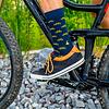 Socken (blau-gelb uni)