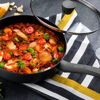 Rode pastasaus met cantharellen (Vegan)