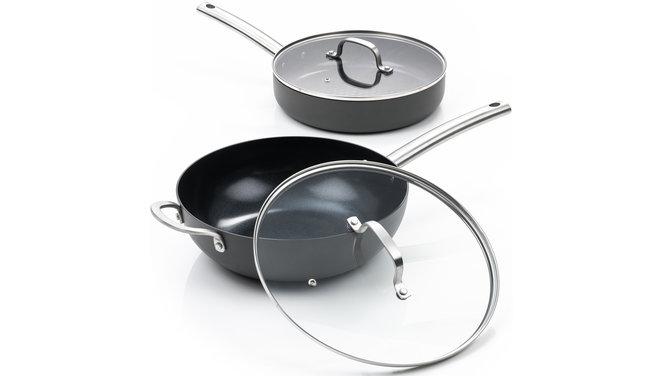 Murray Combideal keramische hapjespan en wokpan
