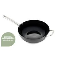 Murray Combi-Deal keramische Bratpfanne und Wok mit Deckel 26 & 28 CM - Edelstahlgriffe