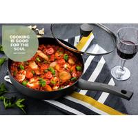 Avon Chef-Kulinarisch-Set - Pfanne 20, 24 & 28 CM - Topf 20 & 24 CM - Wok mit Deckel 28 CM - Bratpfanne 26 CM - Soßentopf 16 CM - Grillpfanne 26 CM - Ergogriffe
