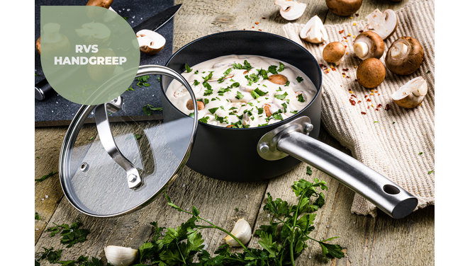 Murray Chef Culinair set  - Pannenset 9 delig - RVS grepen