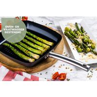 Murray Chef -Kulinarisch-Set - Pfanne 20, 24 & 28 CM - Topf 20 & 24 CM - Wok mit Deckel 28 CM - Bratpfanne 26 CM - Grillpfanne 26 CM - Soßentopf 16 CM - Edelstahlgriffe