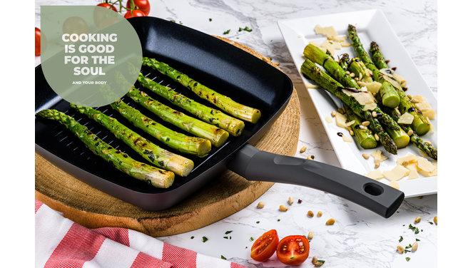 Avon Combideal keramische grillpan en wokpan - Ergo grepen