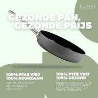 Avon Combi-Deal keramische Grillpfanne und Wok mit Deckel 26 & 28 CM - Ergogriffe