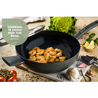 Avon keramische wok met deksel 28 CM - Ergo greep