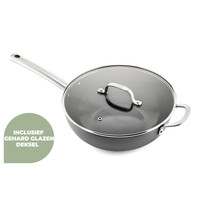 Murray keramische wokpan met deksel 28 CM - RVS greep
