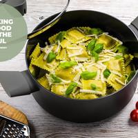 Vers gemaakte Ravioli met ricotta en spinazie